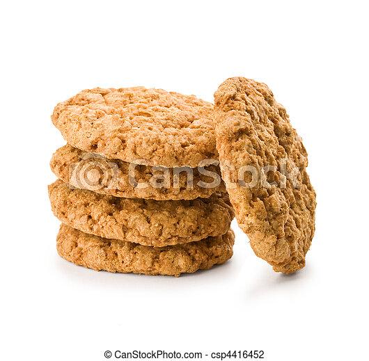 stack of brown cookies - csp4416452