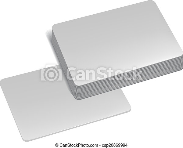 Stack of business cards illustration in vector format stack of business cards csp20869994 reheart Images