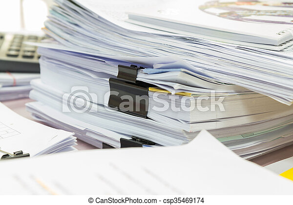 Stack of business papers - csp35469174