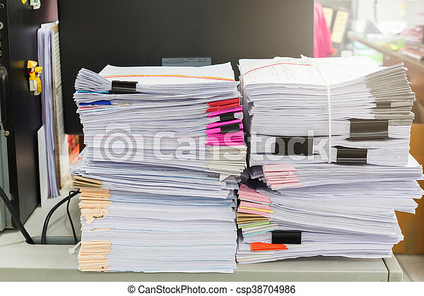 Stack of business papers - csp38704986