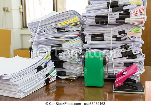 Stack of business papers - csp35469163