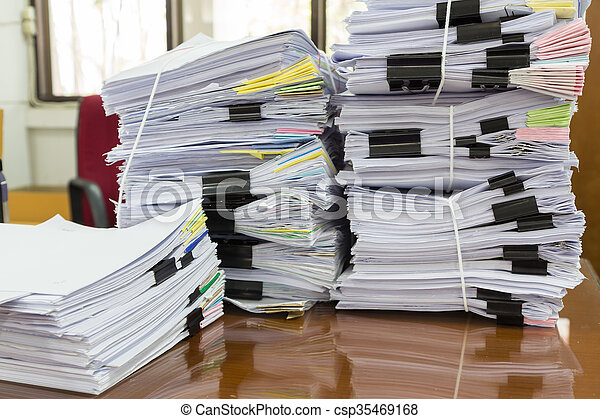 Stack of business papers - csp35469168