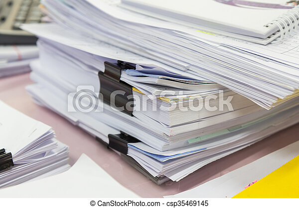Stack of business papers - csp35469145