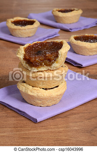stack of butter tarts - csp16043996