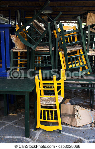 stack of chairs - csp3228066