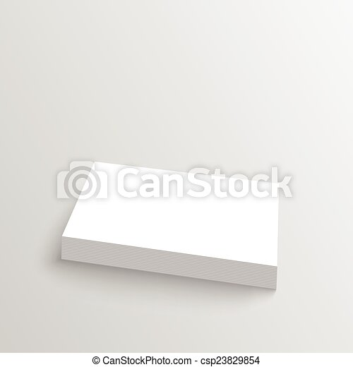 Stack of clean business cards corporate identity isolate vector stack of clean business cards csp23829854 reheart Images