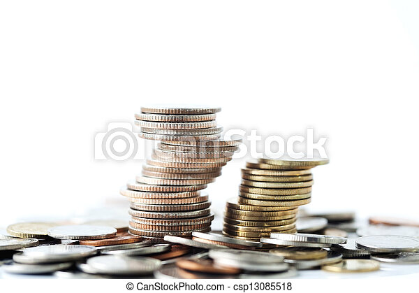 Stack of coins - csp13085518