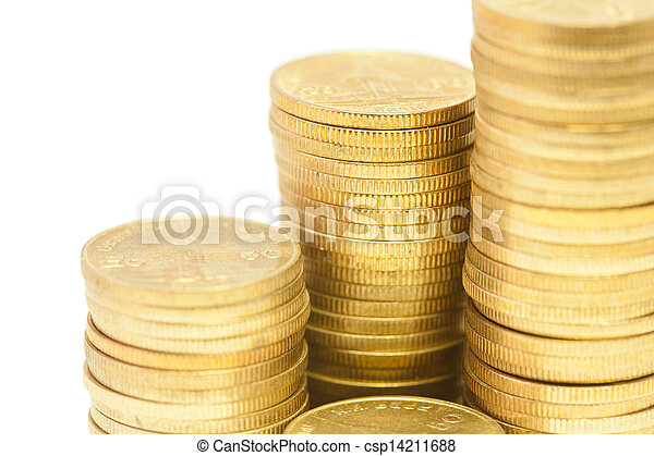 Stack of Coins - csp14211688