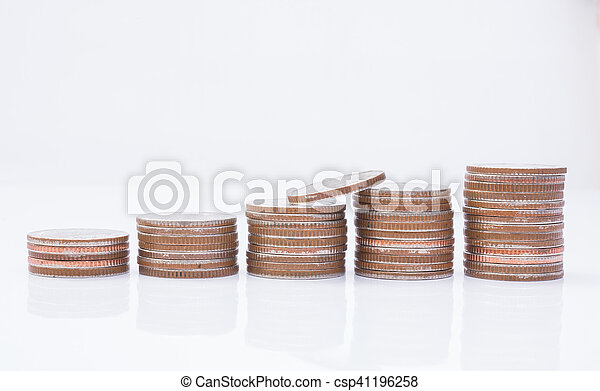 Stack of coins - csp41196258