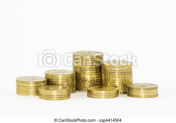 Stack of coins - csp4414504