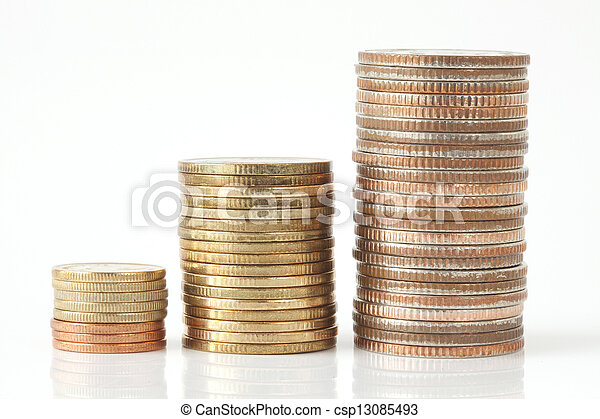 Stack of coins - csp13085493