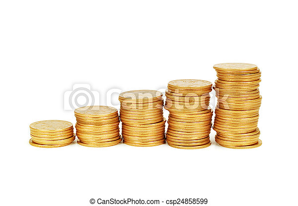 Stack of coins - csp24858599