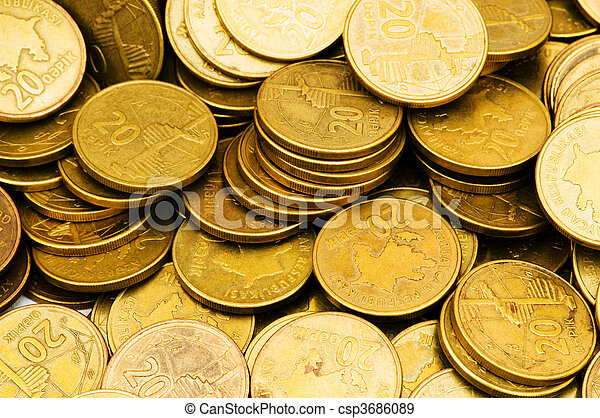 Stack of coins - csp3686089