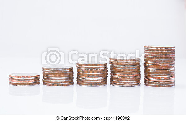 Stack of coins - csp41196302