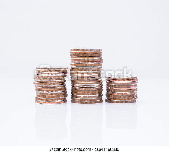 Stack of coins - csp41196330