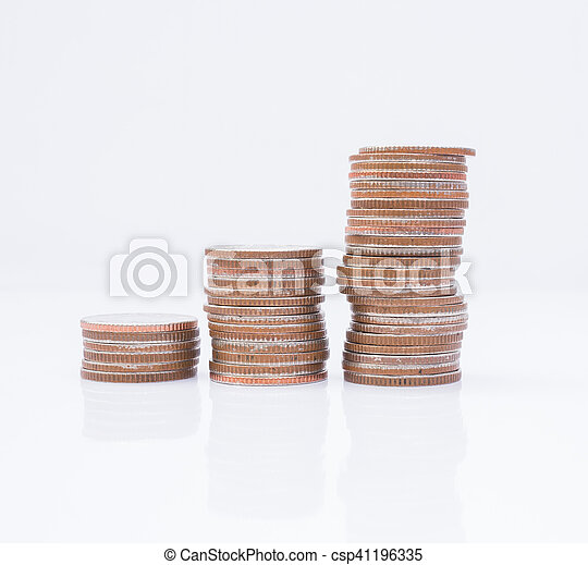 Stack of coins - csp41196335