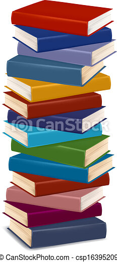 Stack of colorful books. vector.