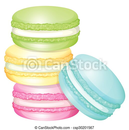 stack of colorful macaron illustration rh canstockphoto com Macaroon Face Macaroon Sketch