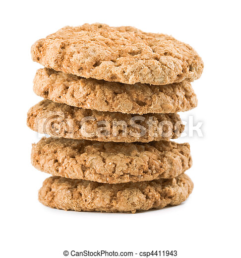 stack of cookies isolated - csp4411943
