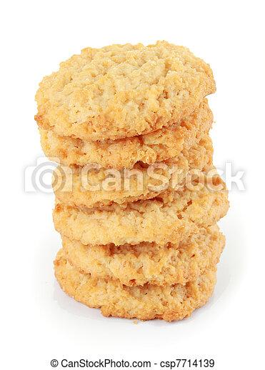 Stack of cookies - csp7714139