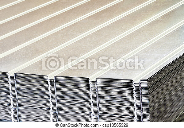 Stack of corrugated steel sheet - csp13565329