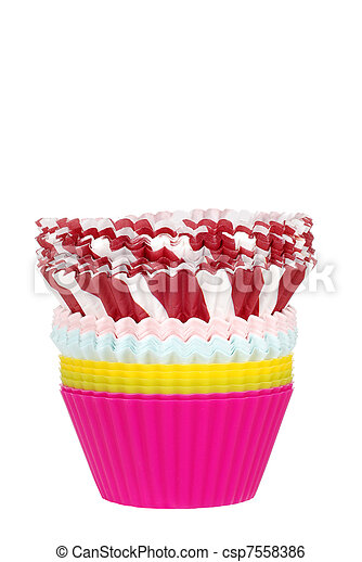 stack of cupcake cups - csp7558386