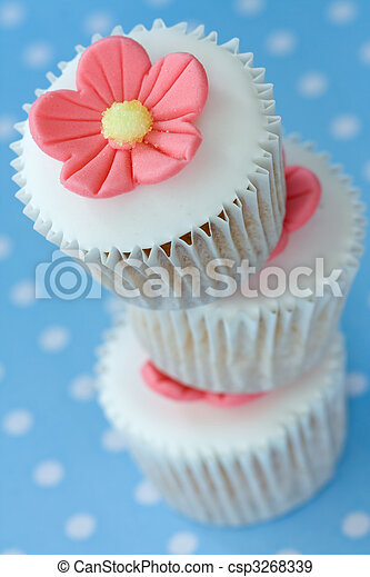 Stack of cupcakes - csp3268339