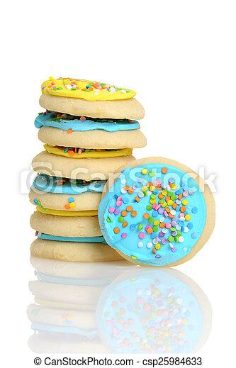 stack of easter sugar cookies - csp25984633