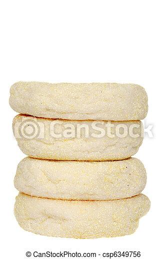 stack of english muffins - csp6349756