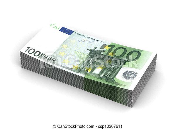Stack of Euro - csp10367611
