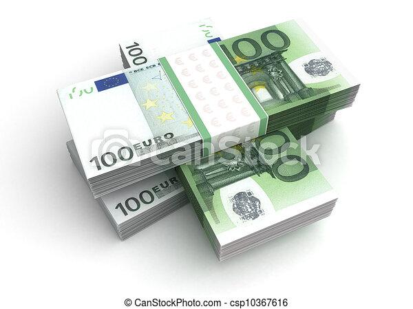 Stack of Euro - csp10367616
