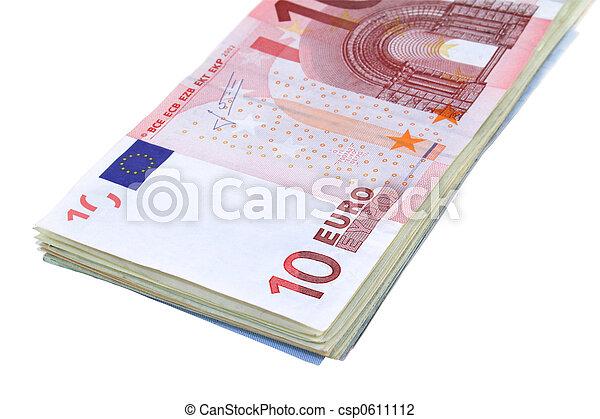 Stack of Euros - csp0611112