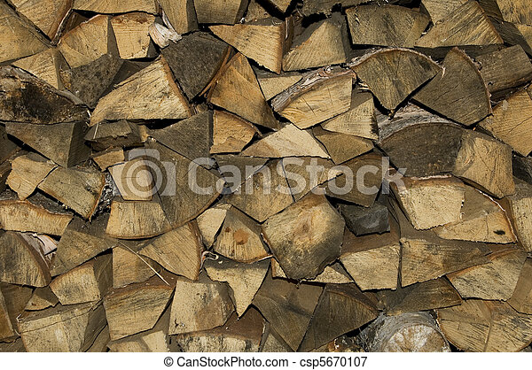 Stack of firewood - csp5670107