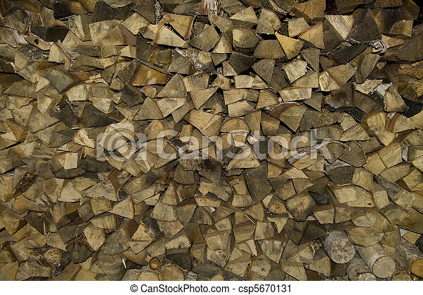 Stack of firewood - csp5670131