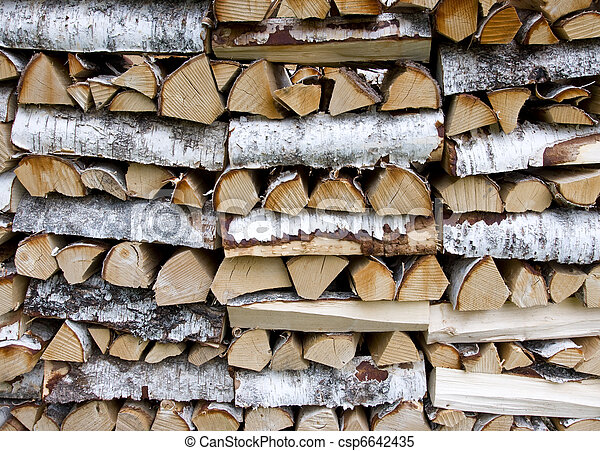 Stack of firewood - csp6642435