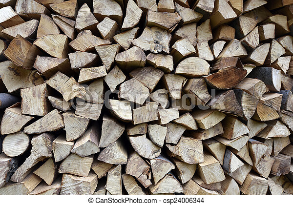 Stack of firewood - csp24006344