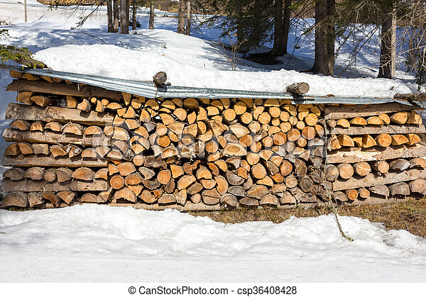 Stack of firewood - csp36408428