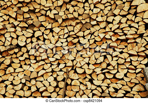 Stack of firewood  - csp8421094