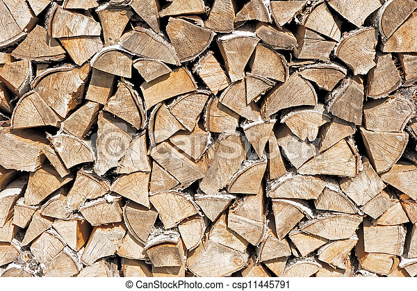 Stack of firewood. - csp11445791