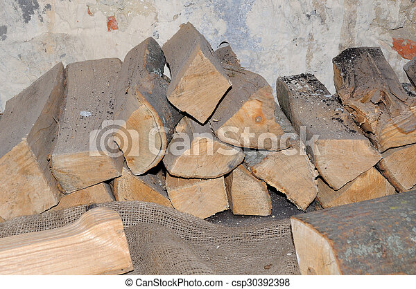 Stack of firewood  - csp30392398