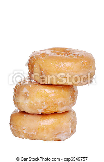 stack of glazed donuts - csp6349757