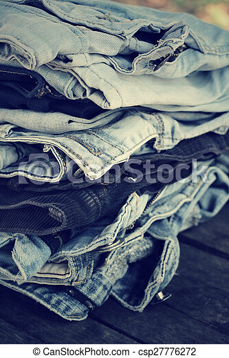 Stack of jeans - csp27776272