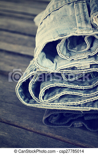 Stack of jeans - csp27785014