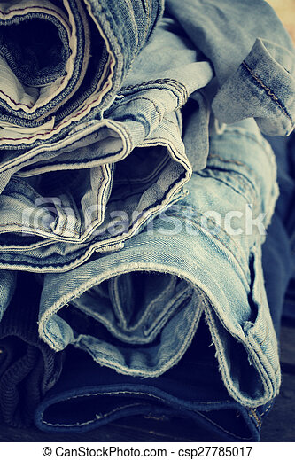 Stack of jeans - csp27785017