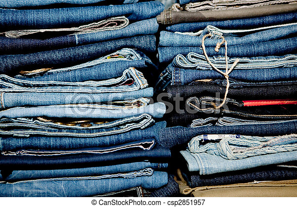 Stack of jeans. - csp2851957