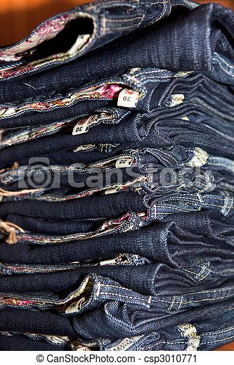 Stack of jeans. - csp3010771