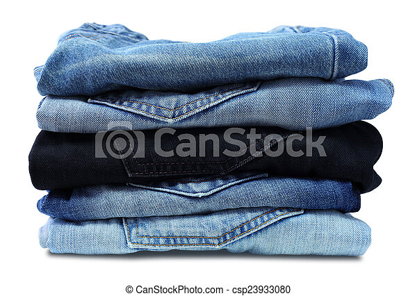 Stack of jeans - csp23933080