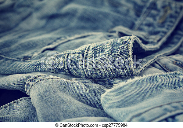 Stack of jeans - csp27775984