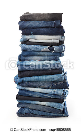 Stack of jeans - csp46608565