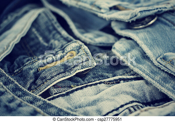 Stack of jeans - csp27775951